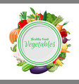 big vegetable icon set and plate vector image