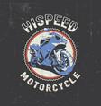 biker round frame poster vector image vector image