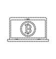 bitcoin commerce design vector image