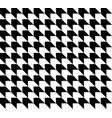 black and white houndstooth pattern vector image