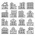 building icons set on white background line style vector image