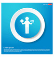 business man holding dollar icon abstract blue vector image