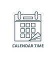 calendar time line icon calendar time vector image vector image