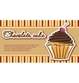 Cards with cupcakes vector image vector image