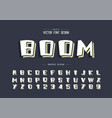 cartoon font and alphabet line bold typeface and vector image