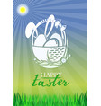 celebratory design for easter vector image