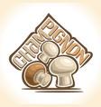 champignon mushrooms vector image vector image