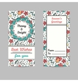 Christmas Cards Line Style Winter Season vector image