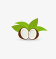 coconut logo template design vector image