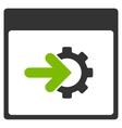 Cog Integration Calendar Page Flat Icon vector image vector image