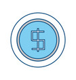 coin money symbol vector image vector image