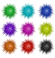 Colorful balls with spikes vector image