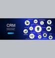 customer relationship management crm banner vector image