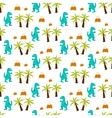 dinosaur kid seamless pattern for textile vector image vector image
