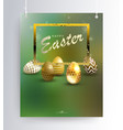 easter green composition on pendants with a vector image vector image