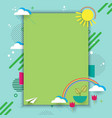 eco card with geometric shape vector image vector image