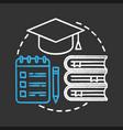 education chalk concept icon vector image