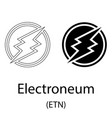 electroneum black silhouette vector image vector image