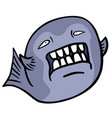 evil fish vector image
