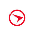 faster red finance logo and symbols concept vector image vector image
