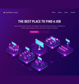 find job hiring agency isometric vacant places vector image vector image