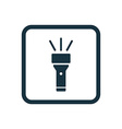 flashlight icon Rounded squares button vector image