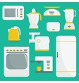 Flat kitchenware vector image