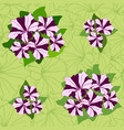 floral seamless pattern decorative flower vector image vector image