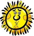 funny sun cartoon vector image vector image