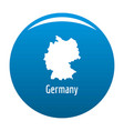 germany map in black simple vector image