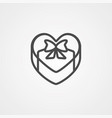 gift icon sign symbol vector image vector image