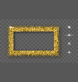 gold glitter frame with bland shadows vector image vector image