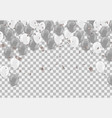 gray and white balloons with copyspace isolated vector image