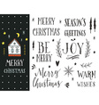 Hand drawn Christmas holiday collection vector image vector image