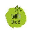 happy earth day watercolor ink texture background vector image vector image