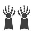 icon cybernetic hands on white background vector image vector image