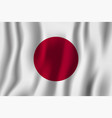japan realistic waving flag national country vector image vector image