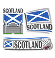logo for scotland vector image