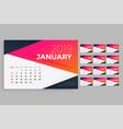 modern 2019 calendar design template vector image