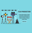 modern film production concept banner flat style vector image