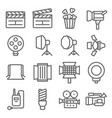 movie icon set contains such icons as slate vector image vector image