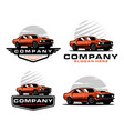 muscle car logo set vector image