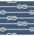 Nautical ropes with knots seamless pattern vector image vector image