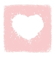 Paint Heart from vintage texture paper Valentines vector image vector image