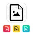 photo file icon vector image