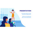 presentation new woman training teacher audience vector image vector image