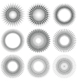 Radial Circle Elements vector image vector image