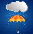 Rainy day rainy umbrella 2 vector image vector image