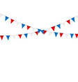 russian flag festive bunting against party vector image vector image