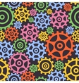 Seamless background from gears vector image vector image